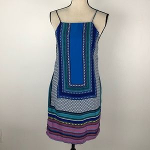Missguided Color Geometric Print Halter Dress 4